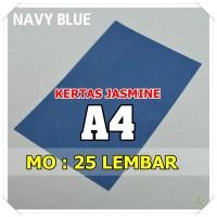 Kertas Karton Jasmine / Paper Flower A4 NAVY BLUE BIRU NAFI