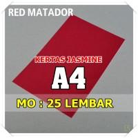 Kertas Karton Jasmine / Paper Flower A4 RED MATADOR MARUN MAROON