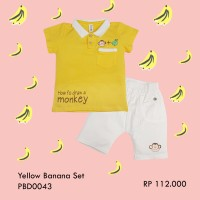Harga pakaian bayi bayi laki baby boy pakaian set yellow banana   Pembandingharga.com
