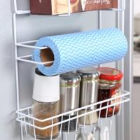 rak ambalan sisi kulkas bumbu portable  gantungan barang dapur grosir