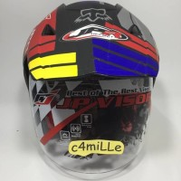 HELM JPR FOX BLACK DOFF SILVER DOUBLE VISOR SUPERMOTO SEMI CROSS TRAIL