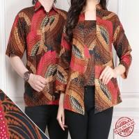 SB Collection Couple Atasan Orlin Blouse Batik dan Kemeja Pria