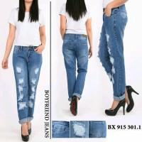 Celana Jeans Boyfriend JUMBO Sobek Full Furing CK 915 676