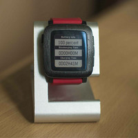 GadgetWraps Pebble Time Brushed Black Metallic Bezel Skin