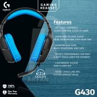 Logitech G430 Digital Gaming Headset Garansi 1 Tahun