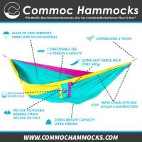 Parachute Hammock Commoc Hammocks Single XL Size Tosca - Yellow Fanta