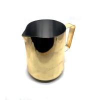 JIBBIJUG CLASSIC Milk Frothing Jug Titanium Gold 600ml