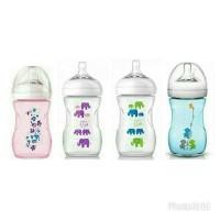 Botol susu bayi philips avent natural bottle 260ml motif elephant ungu