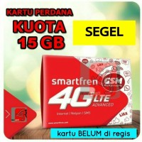 kartu perdana internet smartfren 15gb segel kuota data 15 gb 2gb+ 13gb
