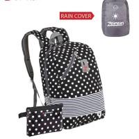Tas Ransel Anak Bahan Nylon Rain Cover Backpack Anak zf 3259 Zeintin
