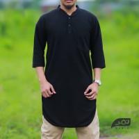 Gamis Kaos Polo | Kurta | Pakistan Model Tee Hitam