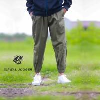 Celana Sirwal Jogger Hijau- Jogger Pants - Celana Panjang Pria