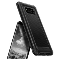 Samsung S7 Edge Case-Spigen  Rugged Armor Extra Black Casing Soft Case
