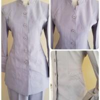 Setelan baju blazer/Exclusive blazer wanita warna abu silver kode 907