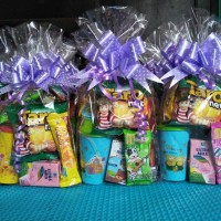 paket snack ultah + souvenir tumbler bear 15.000