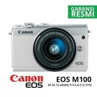 KAMERA CANON EOS M100 KIT 15-45MM STM(GARANSI RESMI CANON DATASCRIP)