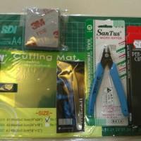 gunpla starter set gundam bandai hg tools kit amplas 3m tang potong mg