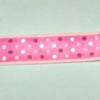 10 cm Pita Satin Bintik 2,5cm Pink Fanta