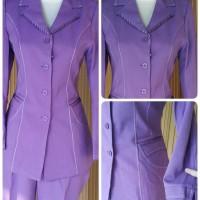 Setelan baju blazer/Exclusive blazer wanita warna ungu muda kode 931