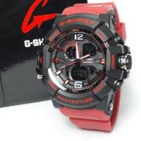 Jam Tangan Pria /Jam Tangan Cowok G-Shock Strap Rubber Black Red