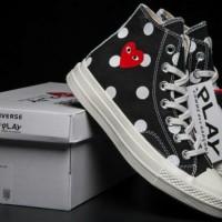 Converse 70s X Cdg Polkadot//sepatu keren//sepatu Converse