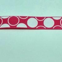 3,87cm Pita Grossgrain Bubble 16mm Pink Fanta