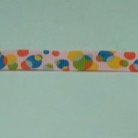 2,09 Meter Pita Grossgrain Bubble 17mm Pink-Biru-Hijau-Kuning