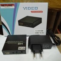 Netline Converter HDMI To AV with Adaptor