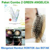 Paket Combo 2 Green Angelica Penumbuh Rambut Botak dan Anti Rontok