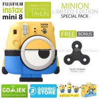 Fujifilm Instax Mini 8 Kamera Polaroid Instant Minion Special Pack