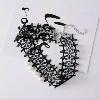 Kalung Cantik & Manis Choker A40 Diamond Shape Stone Pendant T2909