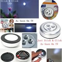 [ BIG PROMO ] LED - Stick and Click / Lampu LED Tempel Praktis