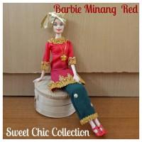 Boneka Barbie Pivotal Baju Adat Sumatra Barat (Minangkabau) 3 Red