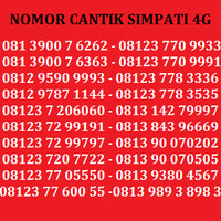 Kartu Perdana Nomor Cantik Telkomsel Simpati AS Indosat XL Axis