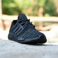 Sepatu Adidas NMD Turtle Dove Premium Import Full Black Hitam / NMD01