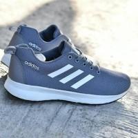 Sepatu Sport Adidas Zoom Grade Ori Abu Abu Putih / Running Pria