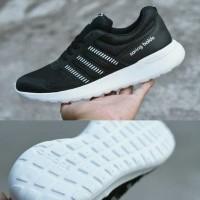 Sepatu Sport Running Adidas Soringblade Cloudfoam Hitam Putih