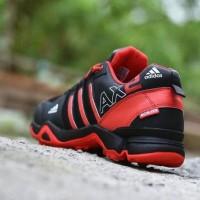 Sepatu Outdoor Adidas AX2 Goretex Hitam Merah / Sport Running Pria