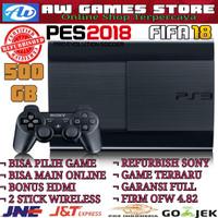 PS3 SUPER SLIM REFURBISH 500 GB BISA PILIH GAME