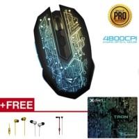 Alcatroz Mouse X-craft Pro Tron 5000 Free Mousematt & Sparkplug