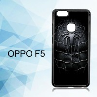 Casing Hardcase HP Oppo F5 Spiderman Black X4957