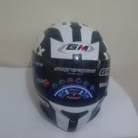 HELM GM RACE PRO ZR650 DARK SINGLE VISOR WHITE BLACK