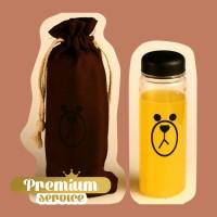 Botol Minum Plastik Karakter Line Sally & Brown 500ml + Free Pouch