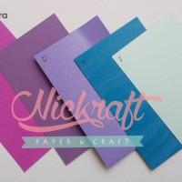 Kertas Karton MUTIARA / Cardstock Paper Flower - UNGU BIRU