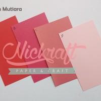 Kertas Karton MUTIARA / Cardstock Paper Flower - MERAH PINK