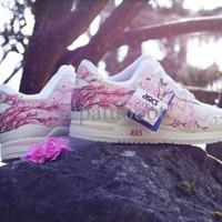 sepatu wanita asics sakura premium terbaru sekolah jalan kekinian hits