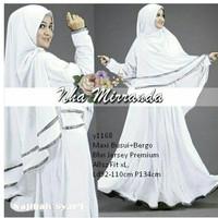 maxi syari bergo gamis busana muslim hijab pashmina jilbab warna putih