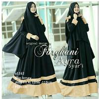 maxi syari bergo gamis busana muslim pashmina hijab jilbab warna hitam