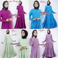 gamis polos susun baby doll jersey
