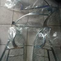 garnish chrome headlamp stoplamp all new avanza / all new xenia 1set